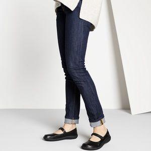 birkenstock / mary jane black velcro flats shoes